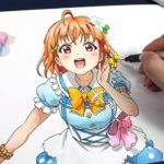 Drawing Chika Takami lovelive sunshine | ラブライブ! サンシャイン 高海 千歌 | 러브 라이브 선샤인 타카미 치카